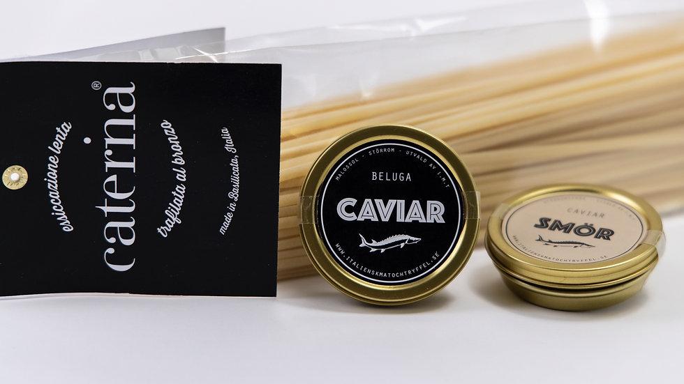 Linguine, caviar smör, caviar