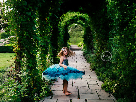 Traveling Dress with Little Dreamers Tutu/ St Charles Studio Dresses