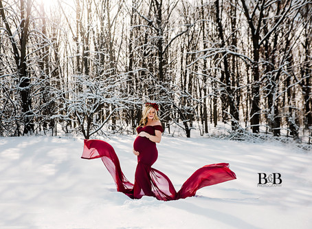 Palatine IL/ Maternity Photography/ Snow Shootout