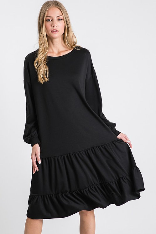 The Fall Jersey Dress in Black