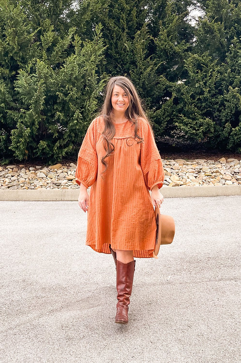 The Whitley Dress in Clay