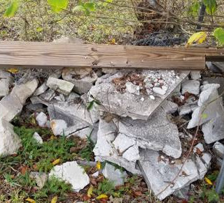 Haul off construction debris