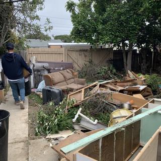 Backyard debris clean up by WHJFL