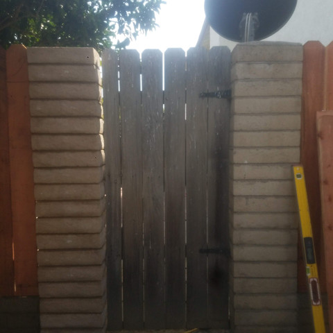 Pilasters and fence by JCR Construction