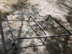 Trash metal bed frame