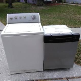 Haul away broken washer and dishwasher