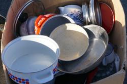 Haul off pots and pans