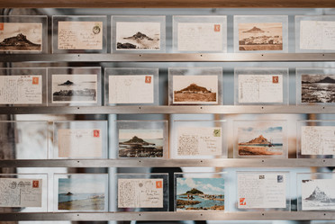Years worth of postcards written about the island are preserved in a small museum at the base of the island. The postcards date back decades, but are legible and available to be viewed.   Mary Kathryn Carpenter