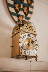 A clock sits on a shelf in St. Michael's Mount.   Mary Kathryn Carpenter