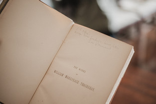 """Once owner of the home, including it's extensive library, Christopher Petherick would write a note in each book each time he read it. In this particular edition, he wrote that he read it once in the 1960s and once in 2014, at which time he found it, """"Wonderful. Much better than I remembered.""""  Wanderlost Magazine   Mary Kathryn Carpenter"""
