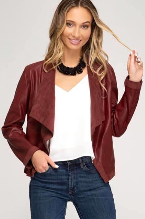 Crimson Leather Jacket