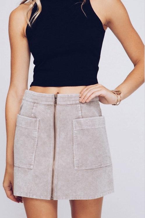 Corduroy Skirt - Taupe
