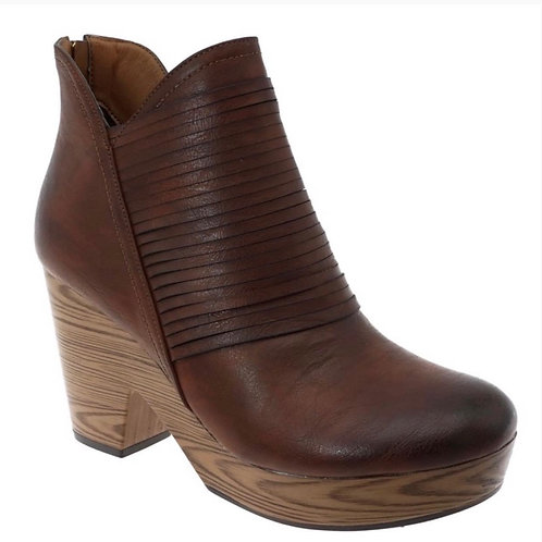 Leather Booties - Whiskey