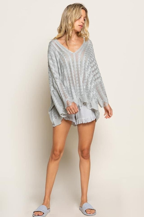 Oversize Crochet Sweater
