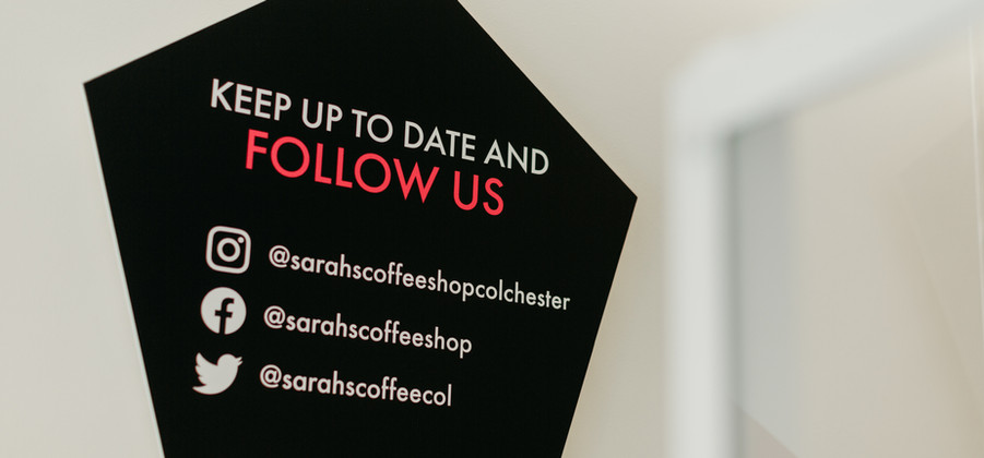 Sarah's Coffee Shop socials