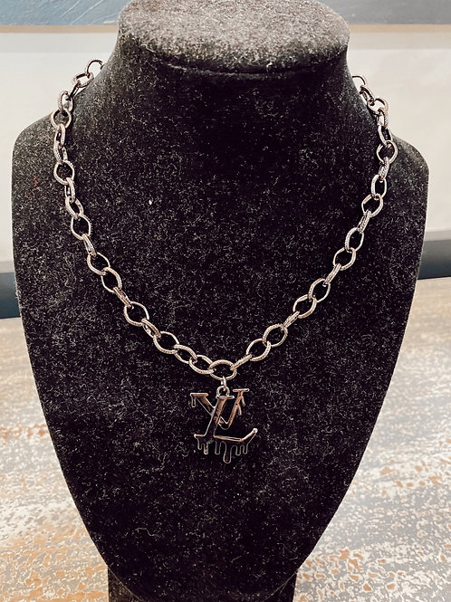LV Inspired Drip Necklace