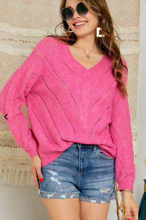 Pretty in Pink - Knit Sweater