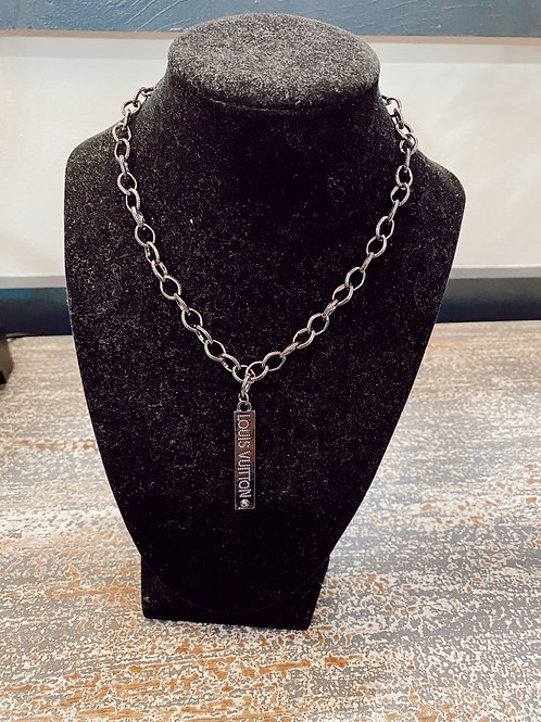 LV Inspired Tag Necklace