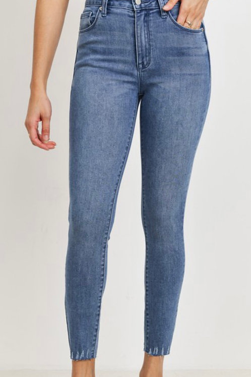Just USA - High Rise Skinny with Fray