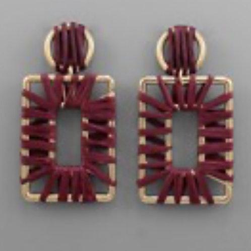 Raffia Wrapped Earrings