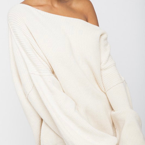 Oversized Bell Sleeved Knit Sweater
