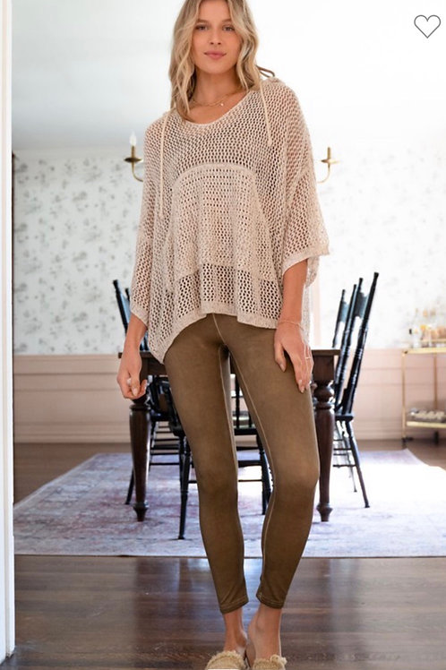 Wind Down Pullover - Natural