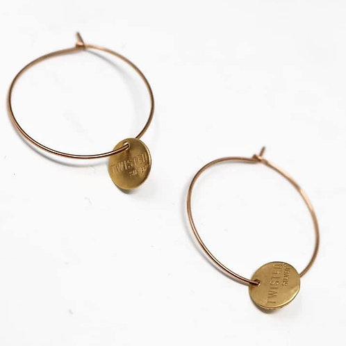 Twisted Silver Hoops - Large