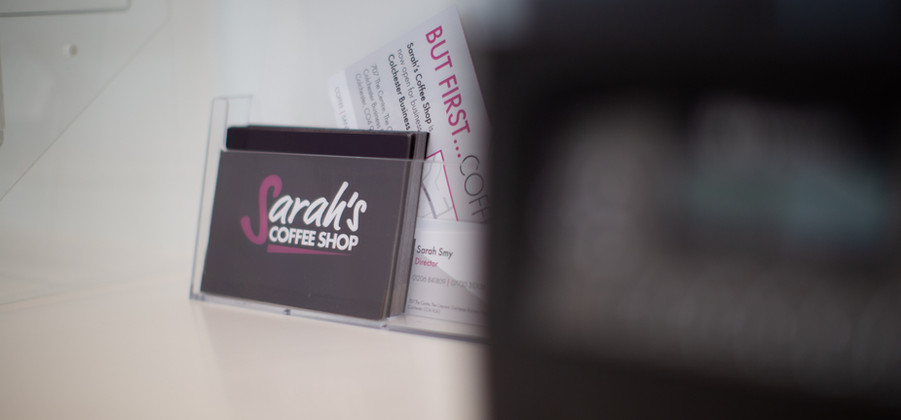 Sarah's Coffee Shop Business Cards