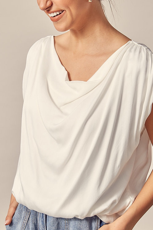White Drape Top