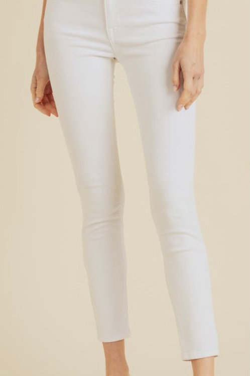 Just USA - White High Rise Skinnies