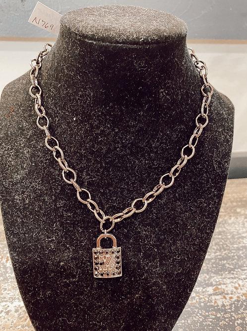 LV Inspired Locket Necklace