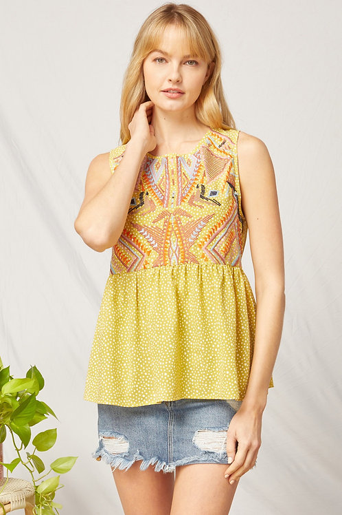 Needlepoint Detailed Top