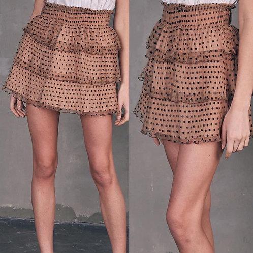 Mesh Dotted Skirt