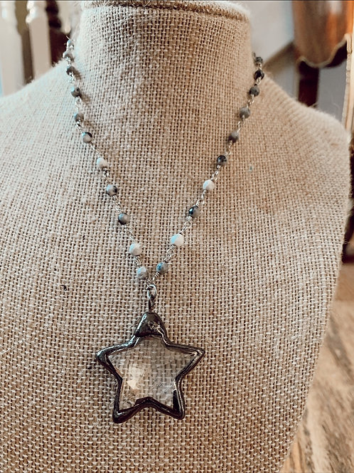 Classic Clear Star Necklace