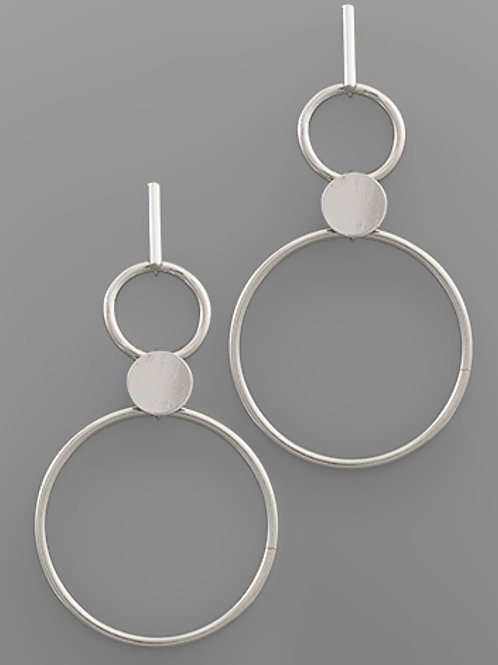 Level Hoop Earrings