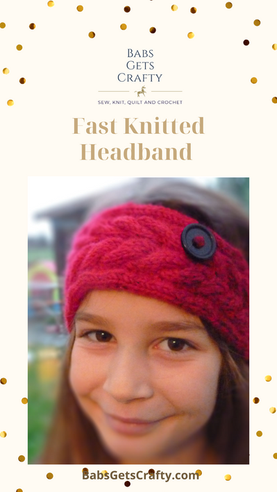 Fast Knitted Headband