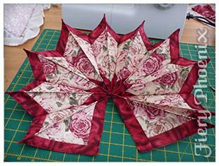 Valentine Fabric Origami Candle Mat - Part 3