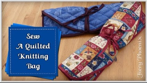 Quilted Knitting Bag Template