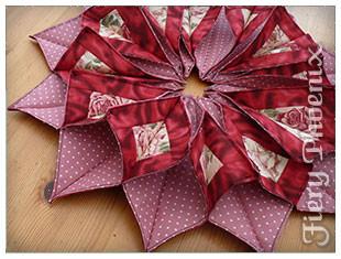 Valentine Fabric Origami Candle Mat - Part 1