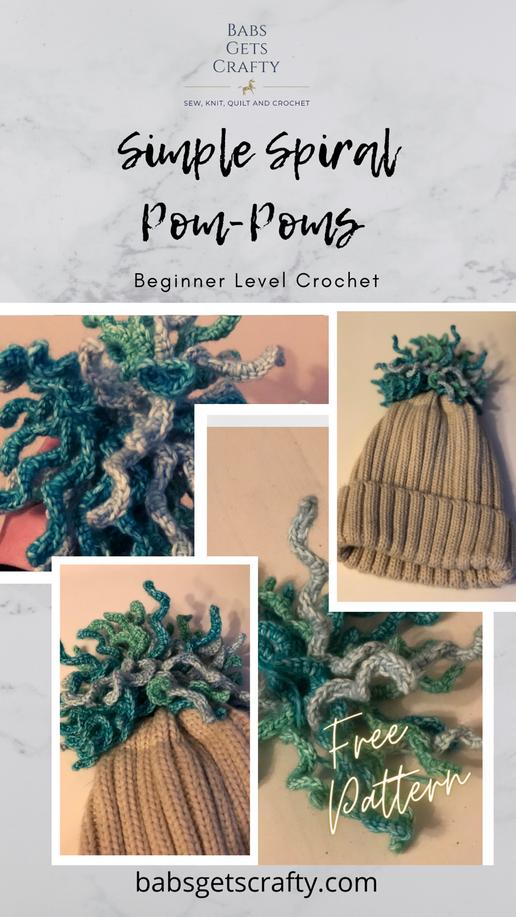 Spiral Crochet Pom-Pom