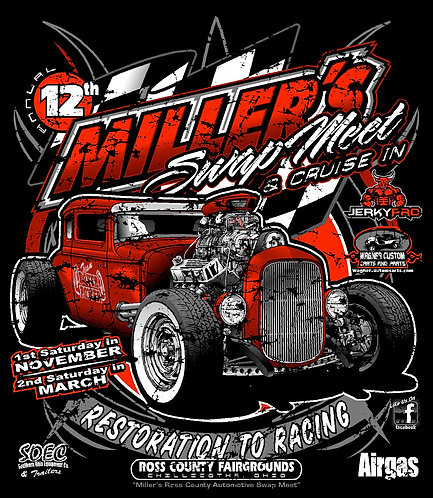 Miller's 12th Annual Swap Meet and Cruise-In Hoodie.