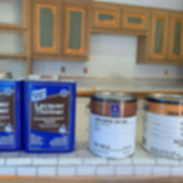 We started painting kitchen cabinets 3 y