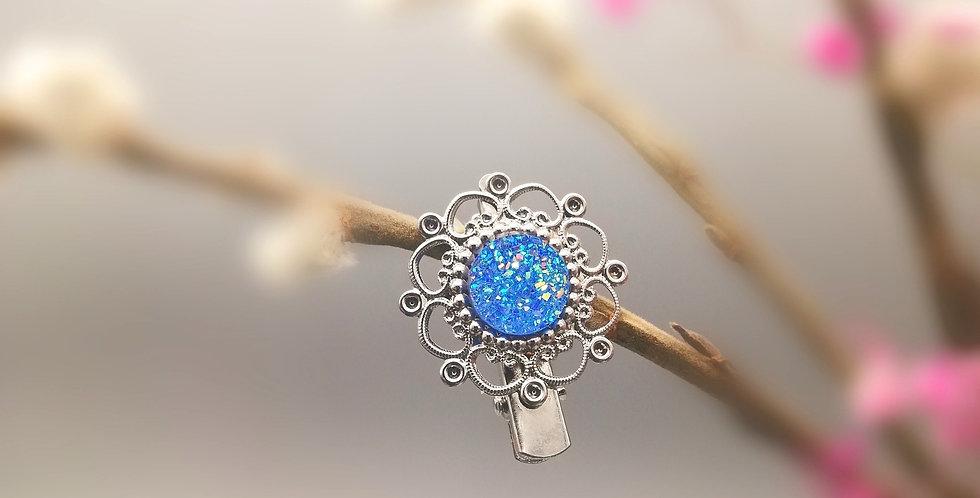 Haarspange Elfenhaar blau