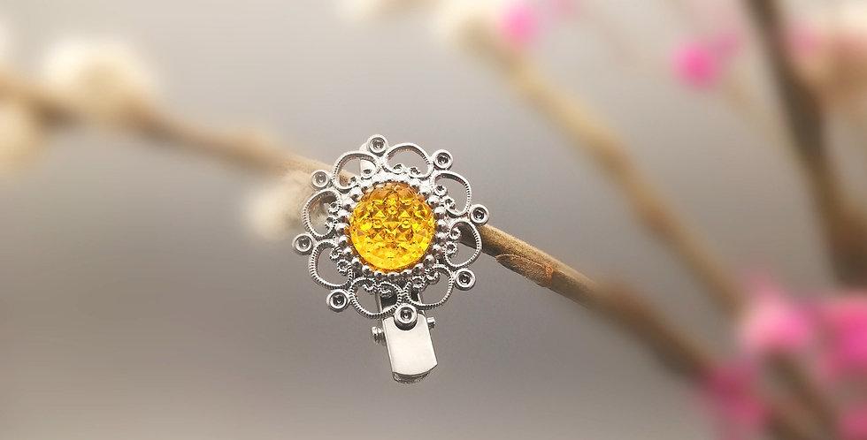 Haarspange Elfenhaar gelb