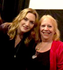 "with Kate Winslet after ""wonder Wheel"" talk"