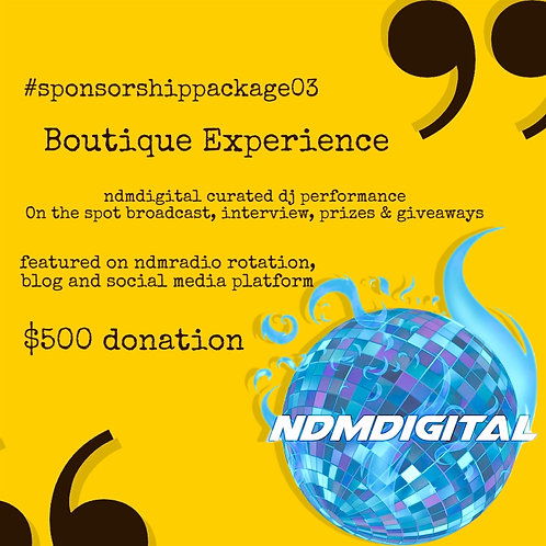 Boutique Experience : Sponsor Pack 03
