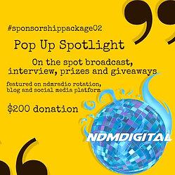 Pop Up Spotlight : Sponsor Pack 02