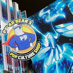 DJ Dimension vibin' out at Polar Bear Pop Culture Shop