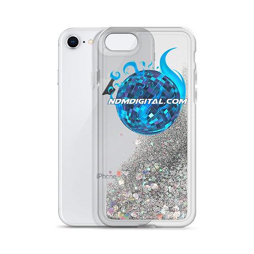 Astral Flame Disco Ball Liquid Glitter iPhone Case