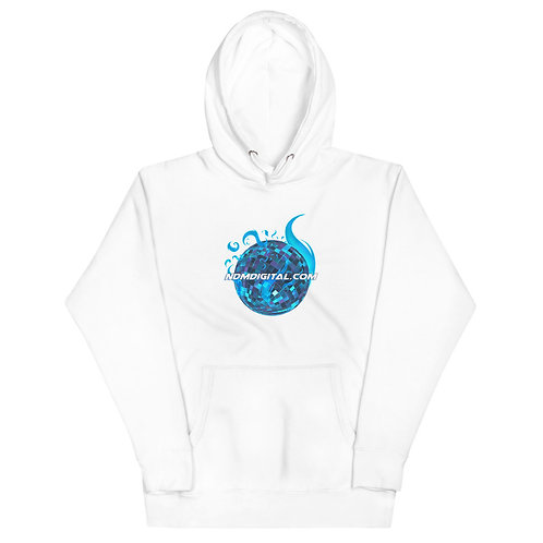 Astral Flame Disco Ball Unisex Hoodie